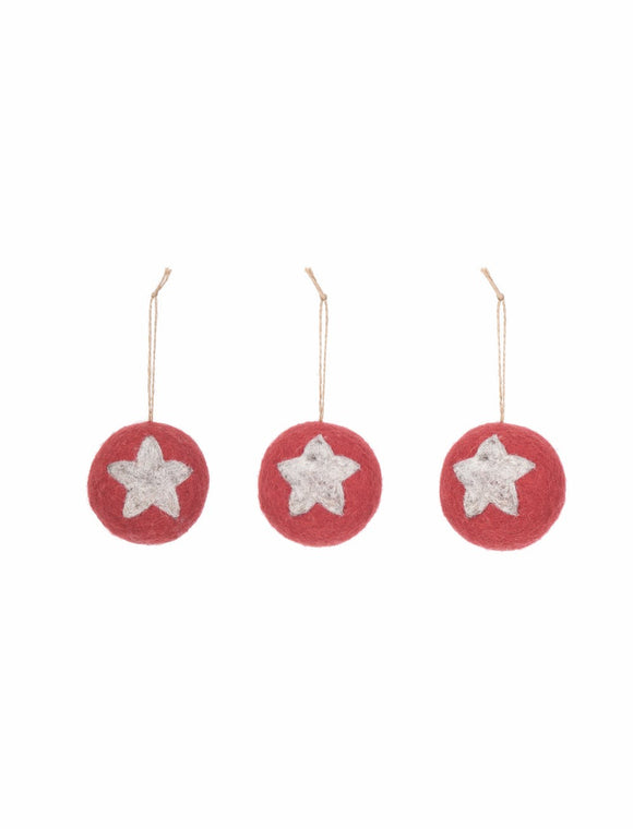 Garden Trading - Southwold Bauble In Brick Red Set Of 3