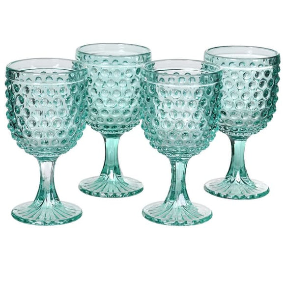 Coach House - Green Bobble Water Glass