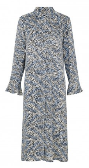 Levete Room - Isa. Leopard Patterned Dress Blue