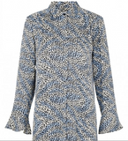 Levete Room - Isa Leopard Patterned Dress Blue