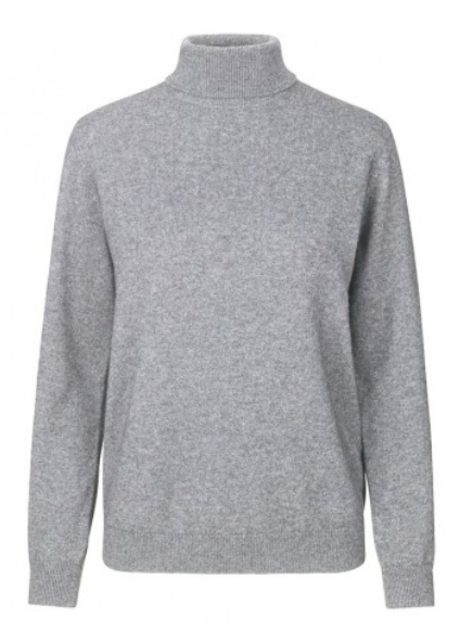 Levete Room - Funda Cashmere Polo Neck Jumper - Grey