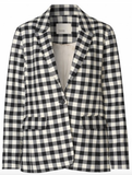 Levete Room - Gymma black & white checked Blazer