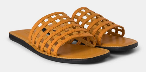 Shoe The Bear - TAO cage sandals in yellow