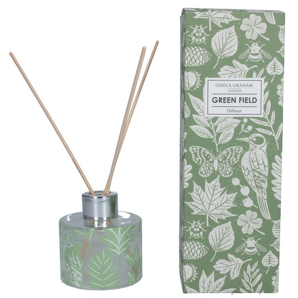 Gisela Graham - Boxed Reed Diffuser Green Garden Study