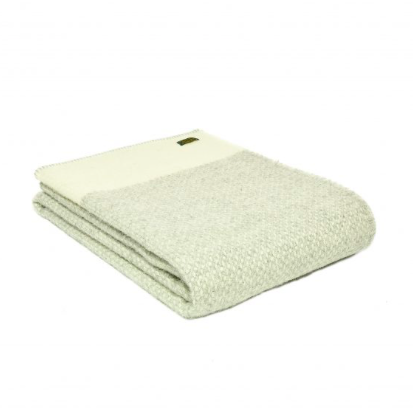 Tweedmill - Pure New Wool Crossweave Throw with Whipped Edge in Cream