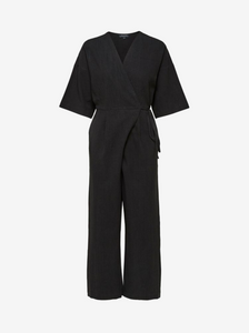 Selected Femme Black Linen Jumpsuit