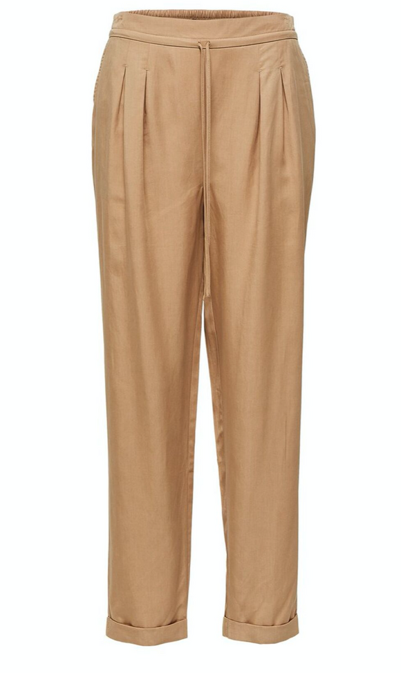 Selected Femme Tannin Pleated Loose Fit Trousers