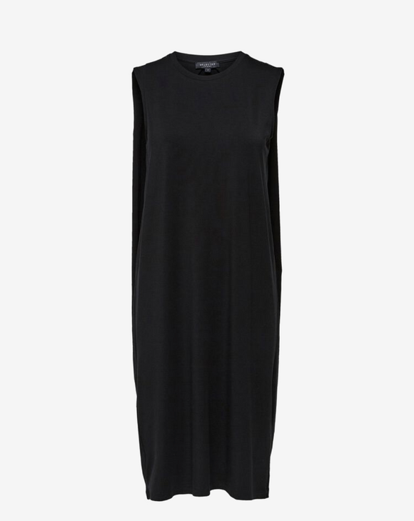 Selected Femme Black Sleeveless Midi Dress