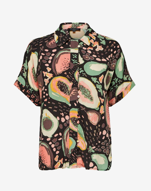 Selected Femme Tutti Frutti Print Short Sleeved Shirt