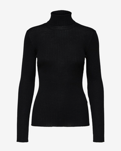 Selected Femme Black High Neck Jumper