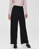 Selected Femme Black Mid Waist Trousers