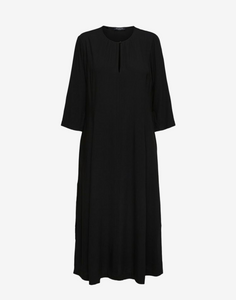Selected Femme Black 3/4 Sleeved Midi Dress
