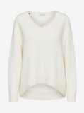 Selected Femme Snow White Oversized V-Neck Pullover