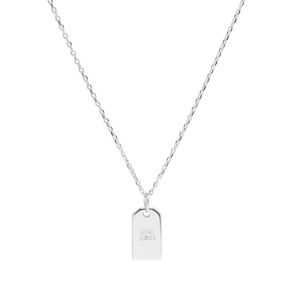 Sui Ava - Girl Boss Necklace in Silver