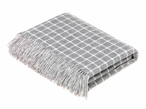 Bronte by Moon - Merino Lambswool Throw in Athens Grey
