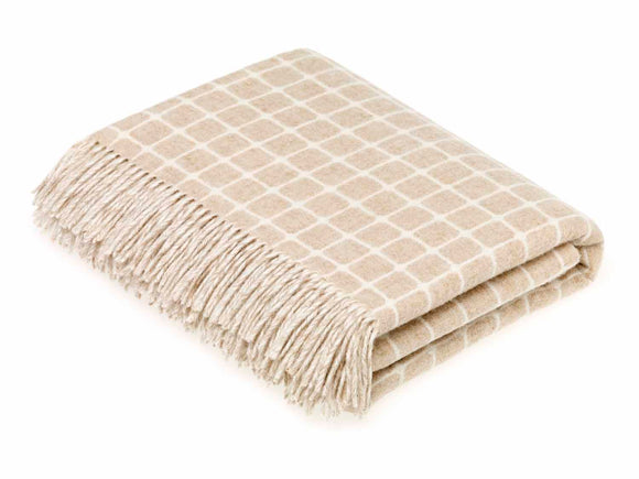Bronte by Moon - Merino Lambswool Throw in Athens Beige