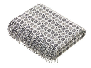 Bronte by Moon - Merino Lambswool Throw in Milan Grey