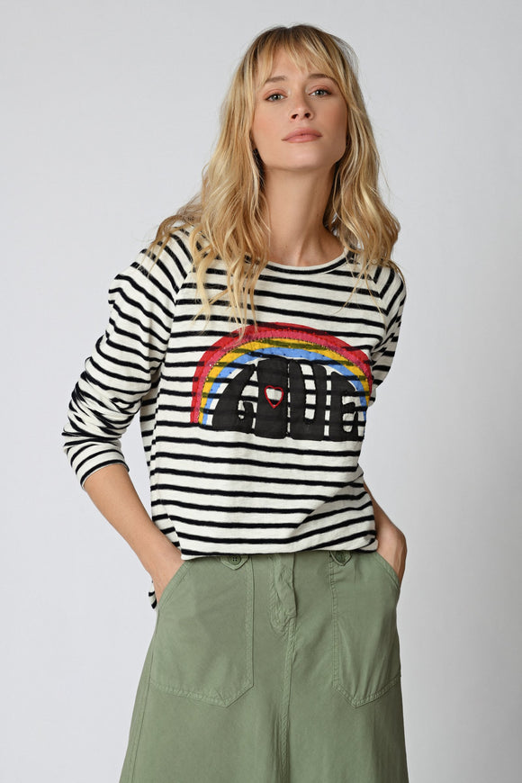 Five Jeans - Craie Love Stripe Tee