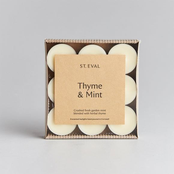 St Eval Thyme & Mint Scented Tealight Candles