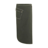 Coster Copenhagen Green Wrap Around Skirt
