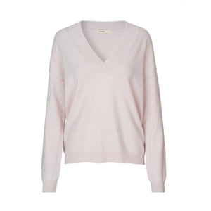 Levete  Room V-Neck Light Pink Cashmere Jumper