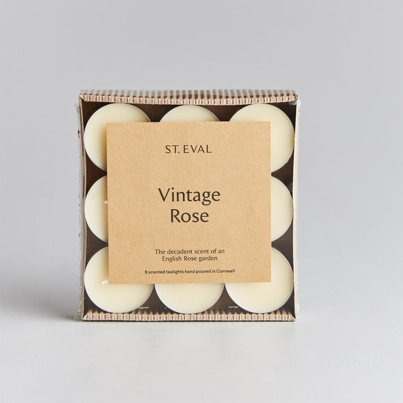 St Eval Vintage Rose Scented Tealight Candles