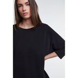 Set Fashion Oversized Black Sparkle Top