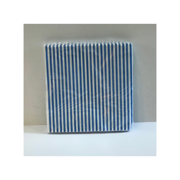 Gisela Graham Blue Stripe Paper Napkins