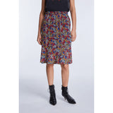 Set Fashion Midi Skirt with Minimal Floral Print
