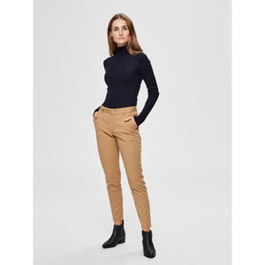 Selected Femme Brown Stretch Chino