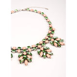 Essentiel Antwerp - Green and Pink Rhinestone Encrusted Necklace