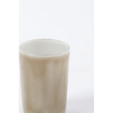 Painterly Glass Votive in Khaki
