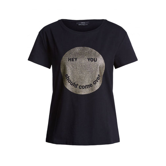Set Fashion Black Hey You T-Shirt