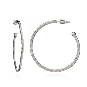 Azuni - Lydia Large Hoops - Silver