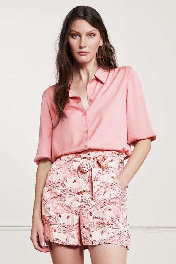 Fabienne Chapot - Mira Short Blouse in Trippy Pink