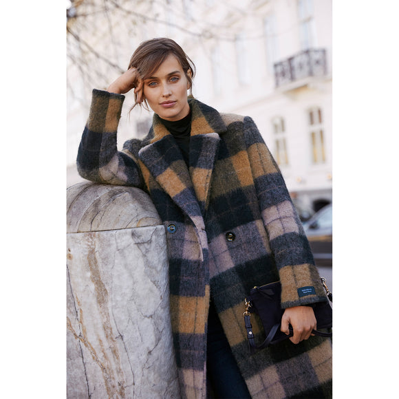 Part Two Oversize Check Patterned Coat