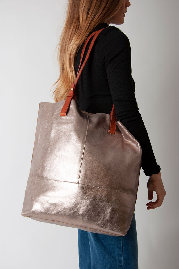 Nooki - Vega Leather Shopper Bag Gold