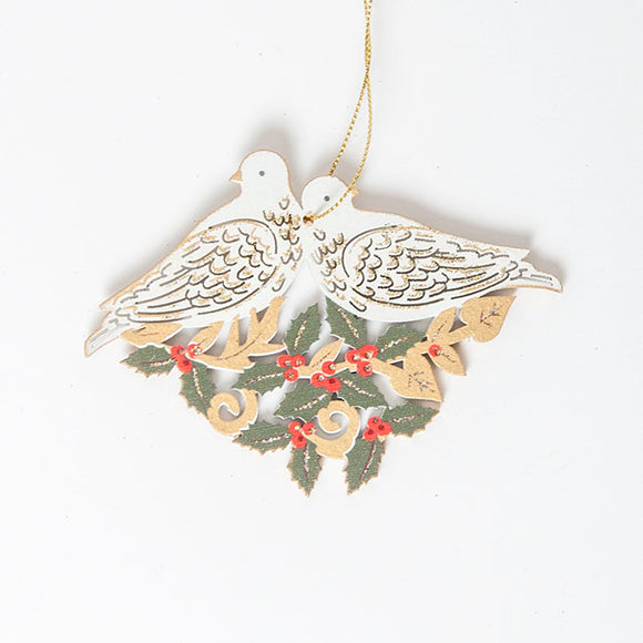 Gisela Graham - Wooden Birds Tree Decoration