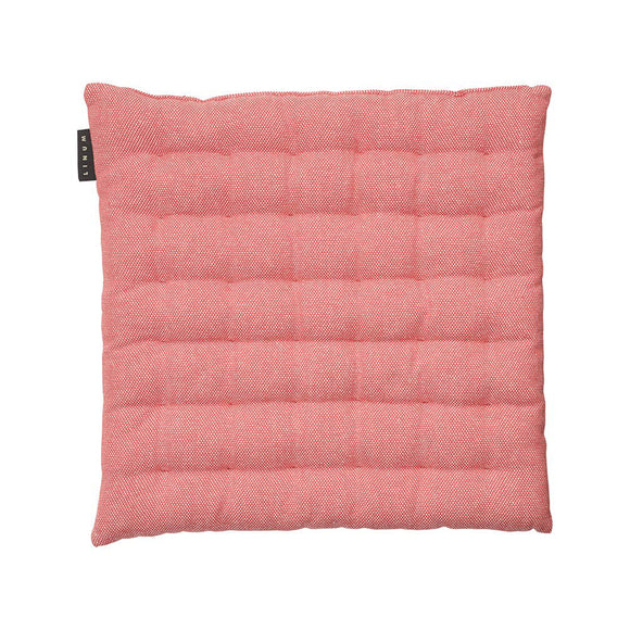 Linum Pepper Seat Cushion in Coral