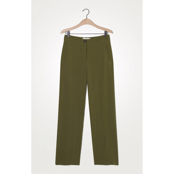 American Vintage Olive Green Straight Leg Trouser