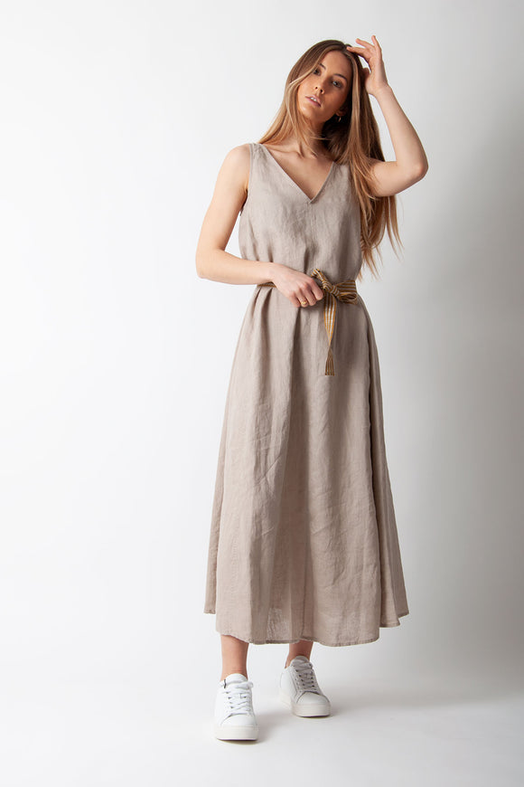 Ottod'Ame - Abito Sleeveless Dress in Beige