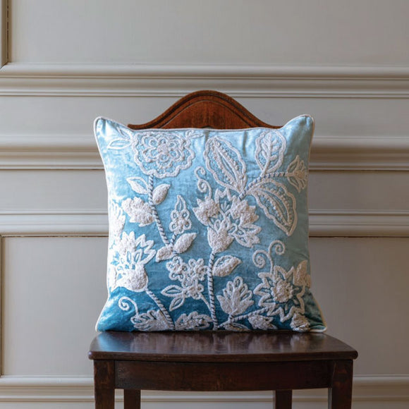 Grand Illusions - Cushion Tapestry Bloom Blue 45 x 45cm