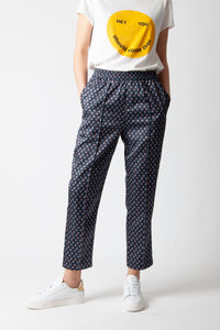 CustomMade - Tenna Black Print Trousers