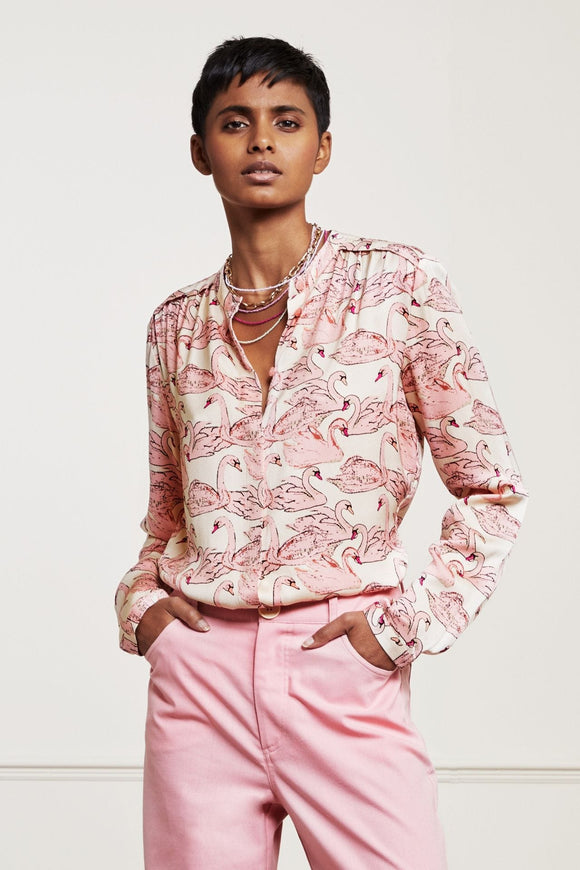 Fabienne Chapot - Sunset Blouse in Swan Sea Print