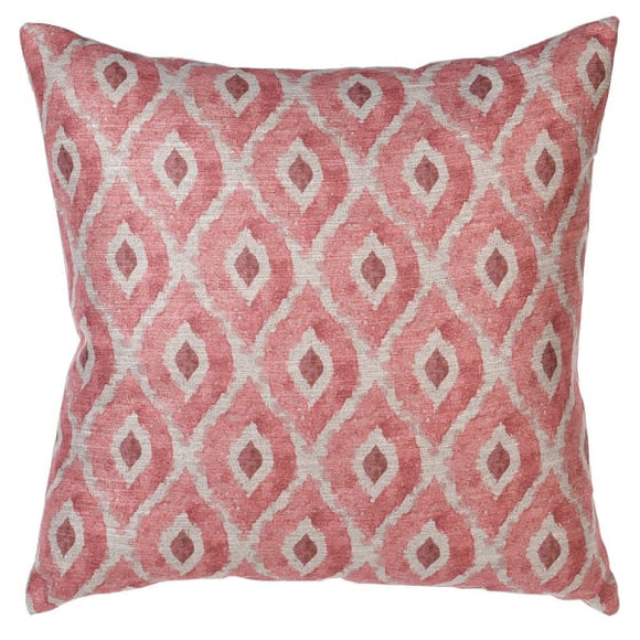 Coach House - Pink Coral Diamond Cushion