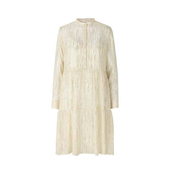 Levete Room Metallic Antique White Hollie Dress