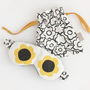 Caroline Gardner - Flower Eyes Cotton Eye Mask In Pouch