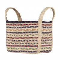 The Braided Rug Company - Utility Basket Fairisle Small