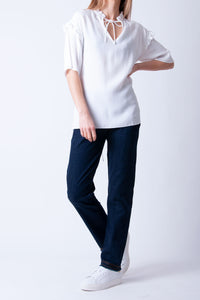 Just Female - Ferry Blouse White