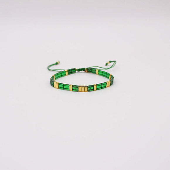 Tilley & Grace Islay Bracelet in Gold & Green
